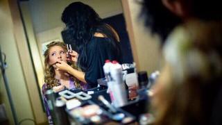 Пробный макияж и прическа