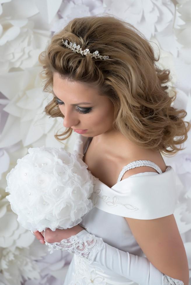 Свадебная прическа на короткие волосы После